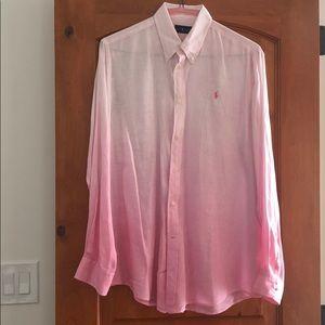 Ralph Lauren Linen Ombré Buttondown Shirt